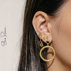 Double Ear Piercings, Ear Gauges, Cross Earrings, Star Earrings, Lobe, Ear Tunnels, Golden Earrings, Ear Studs, Body Piercing