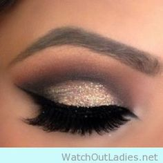10 Glitter eye make up ideas for a cocktail party