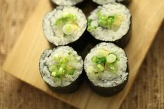 Avocado Pickled Daikon Sushi Long Roll Recipe with Nutrition Facts!