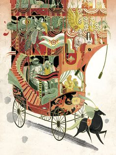 Victo Ngai, Above and Beyond, in Plansponsor. This is what children's book illustrations should be like.