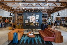 The well-edited selection of outdoorsy men's brands at Stag Provisions includes Save Khaki, Penfield. Sofa Furniture, Cheap Furniture, Furniture Stores, Furniture Removal, Furniture Movers, Furniture Outlet, Clothing Store Interior, Shops, Store Fixtures