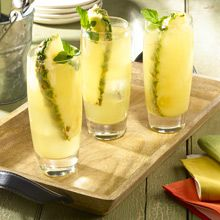 Coco-Piña Coolers Refresh yourself on the hottest of days with this light coconut-pineapple drink. Hydrating GOYA® 100% Pure Coconut Water, sweet GOYA® Pineapple Juice and fizzy club soda make for delicious punch with tropical flare. Pour over ice and chill out.