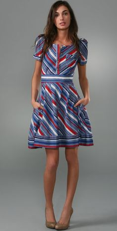 Marc by Marc Jacobs Flutter Stripe Dress