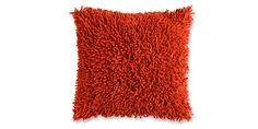 Sofa Mart: Shag Pillow Paprika