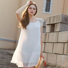 white casual homecoming dress