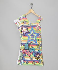 Take a look at this Purple Star Asymmetrical Dress on zulily today!