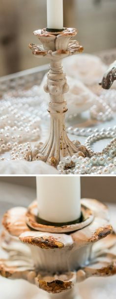 Lovely candle holder #wedding