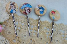 Desert Girls Vintage - beatrix potter hair pins. Love.