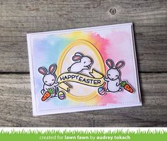 the Lawn Fawn blog: Lawn Fawn Intro: Some Bunny, Stitched Garden Border, Little Flowers + Happy Easter Line Border #GardenBorders