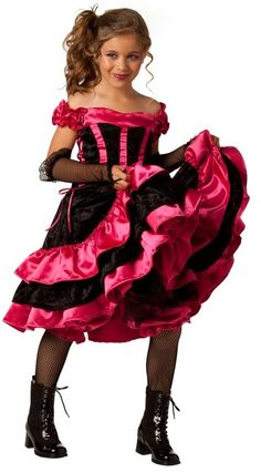 Girls' frilly cancan costume http://ajreports.com/cancan2   #girls #costume #cancan #halloween