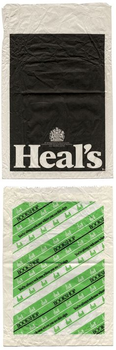 Beautiful paper bags from the 70's and 80's.