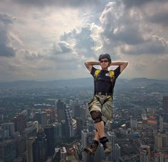 KL Tower International Jump by Sally MK via photographyweek.tumblr.com #photography #basejump
