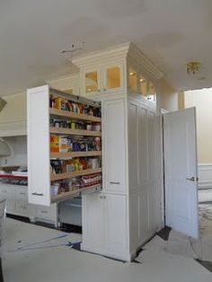 pull out pantry. awesome!