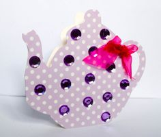 Tea pot shaped vintage style  card  3d with by CabbagePatchCards, £1.99