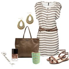 brown & turquoise, created by bonnaroosky on Polyvore