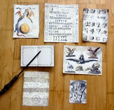 Potter Frenchy Party - witchcraft papers - Harry Potter DIY