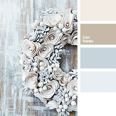 Shades of brown and gray-blue are ideal for winter. Use this palette for your wardrobe and make-up..