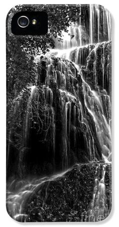 Trinity Waterfall In Monasterio De Piedra Park Bw iPhone and Samsung Case by RicardMN Photography