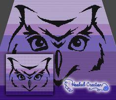 Tribal Owl SC Throw Sized Blanket Crochet Pattern - PDF Download