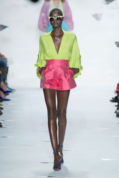 Pin for Later: Take a Look Back at DVF's Style History Spring 2013 Bold color featured in the 70's inspired collection.