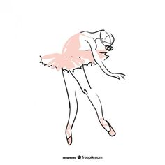Bailarina ilustração                                                       …