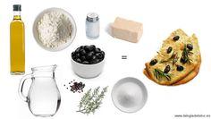 Focaccia de olivas negras & romero