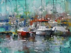 "Daily Paintworks - ""Pointe Claire Harbour"" - Original Fine Art for Sale - © Mark Lague"