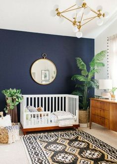Perfect plants for decorating your baby's nursery room. Beautiful green design ideas for your baby room. Incorporate nature and green hues with a minimalist look into your nursery room. #Nurserydecoratingideas