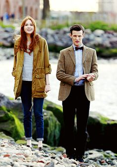 Karen Gillan + Matt Smith [I loved them so much, it hurts to think they aren't in Doctor Who any more] Doctor Who, Eleventh Doctor, Matt Smith, Tsundere, Dr Who, Karen Gillan, Amy Pond, Don't Blink, Torchwood