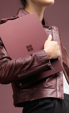 Having a Burgundy moment with Surface Laptop.
