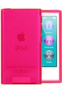 Amazon.com: HHI Slim Fit Flexible Jelly Rubber Case for iPod Nano 7th Generation - Clear Pink (Package include a HandHelditems Sketch Stylus Pen): MP3 Players & Accessories