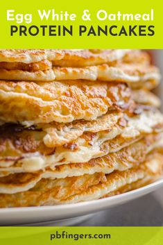 Egg White and Oatmeal Protein Pancakes Egg White and Oatmeal Protein Pancakes Egg White Recipes, Egg Recipes, Cooking Recipes, Recipes With Egg Whites, Healthy Recipes, Vitamix Recipes, Protein Recipes, Simple Recipes, Eggs