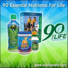 The human body is often deprived of the 90 essential nutrients necessary for repairing, building and maintaining basic health in spite of today's variety of foods. Youngevity has developed a convenient nutrition plan that gives your body all the nutrients it needs to bring about a total health transformation.Each Healthy Body Pak provides the full 90 nutrients, including minerals, essential fatty acids, vitamins and amino acids. www.debbietaillieu.youngevity.com