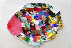 회접시로 무지개 물고기 만들기 :: 너랑 나랑 그리는 그림 (Enid & Cherryyang)