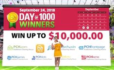 PCH Day of 1000 Winners Sweepstakes Giveaway No. Enter Sweepstakes, Online Sweepstakes, Helping Other People, Helping Others, Win A House, Lotto Winning Numbers, 10 Million Dollars, Win For Life, Publisher Clearing House