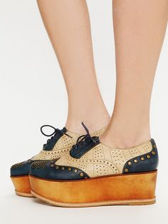 Free People Ness Stacked Brogues, �99.95