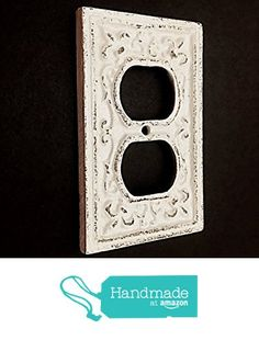 Cast Iron Decorative Electrical Outlet Plate, Plug In Cover, Shabby Chic Outlet Cover, Pick Color from The Appalachian Artisans https://www.amazon.com/dp/B01N16ADRQ/ref=hnd_sw_r_pi_awdo_YFM2zb3X1T5RV #handmadeatamazon