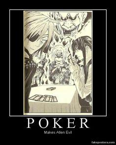 D.Gray-man ~~ Poker makes Allen a True Demon!