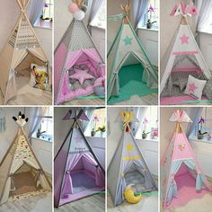 Kids Room Art, Kids Bedroom, Sewing Pillows Decorative, Indoor Tents, Kids Tents, Diy Canopy, Teepee Tent, Scatter Cushions, Paper Toys