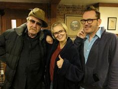 George Riddle, Sara Paxton et Pat Healy sur le tournage de The Innkeepers, Ti West, 2011.