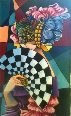 Artist Rita Cavalarri - Born in Rome, Italy - Self-taught artist - she started as a fashion designer - In 1990 Rita came to Brazil, encouraged by her husband Romano Di Martino, begins her own artistic career.