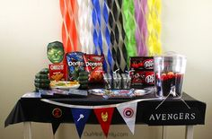 Plan a Marvel Movie Marathon Party to get excited for MARVEL's The Avengers: Age of Ultron! Check out our party inspiration! #AvengersUnite #Ad