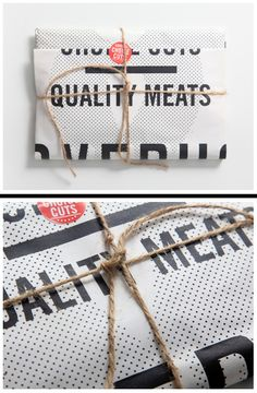 loud typography meat packaging design by ilovedust.com see their other simple colorful collateral!