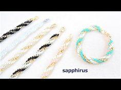 【ハンドメイド】夏色ブレスレットの作り方2 簡単スパイラルロープで編むブレスレット - YouTube