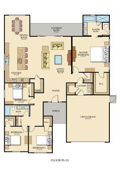 Moonlight New Home Plan in Gossamer Grove: Skye Series by Lennar Sims House Plans, Barn House Plans, House Plans One Story, New House Plans, Dream House Plans, Dream Houses, Dream Home Design, Home Design Plans, House Design