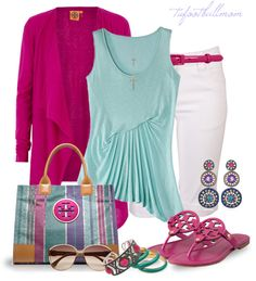 """""""Tory Burch Bag & Shoes"""" by tufootballmom on Polyvore"""