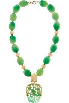 Kenneth Jay Lane Gold-plated and bead necklace  | THE OUTNET