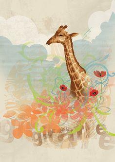 giraffe by gcavdar on deviantART http://myp55.deviantart.com/art/giraffe-76836868