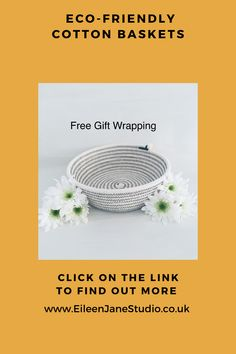 Eco Friendly Cotton Storage Baskets. Grey Cotton Thread. Click on the Link above or below to collect your Basket with Free Gift Wrapping. Baby Storage, Basket Storage, Laundry Storage, Shoe Storage, Bedroom Storage, Kitchen Storage, Storage Hacks, Storage Ideas, Makeup Basket