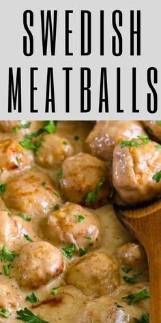 Gnocchi Recipes, Tofu Recipes, Gourmet Recipes, Chicken Recepies, Cooking Recipes, Yummy Recipes, Swedish Meatball Recipes, Swedish Recipes, Swedish Cuisine